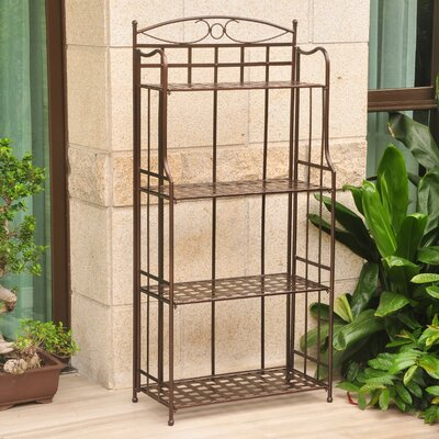 Schilling Bakers Rack Finish: Hammered Bronze