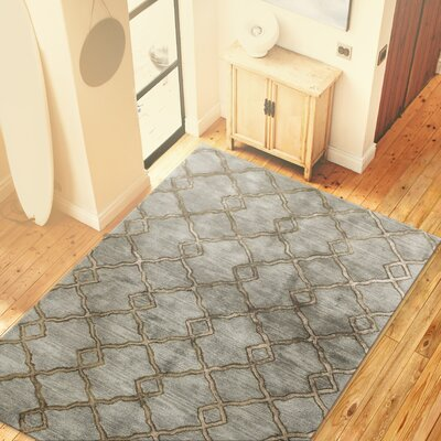 Alcott Hill Higby Hand-Tufted Slate Area Rug