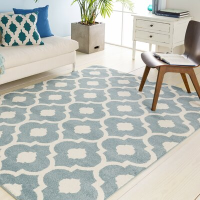Carnstroan Ivory/Slate Geometric Area Rug Rug Size: Rectangle 67 x 96