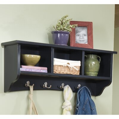 Bel Air 8 Hook Storage Shelf Color: Charcoal