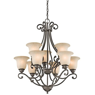 Haffenreffer 9-Light Shaded Chandelier