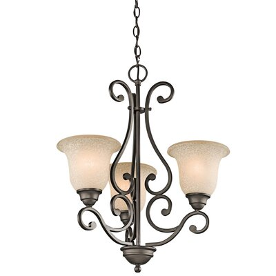 Haffenreffer 3-Light Shaded Chandelier