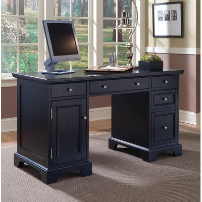 Marblewood Double Pedestal Computer Desk