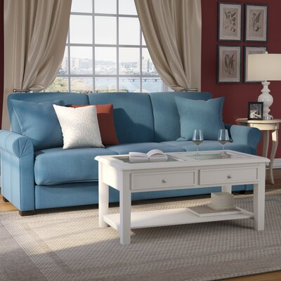 Lawrence Full Convertible Upholstered Sleeper Sofa Upholstery: Blue