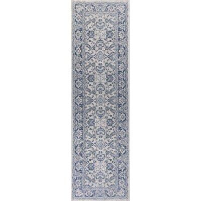 Refton Blue/Ivory Area Rug Rug Size: Runner 22 x 76