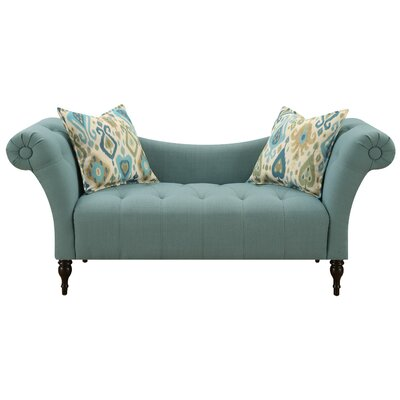Chase Settee Upholstery: Teal