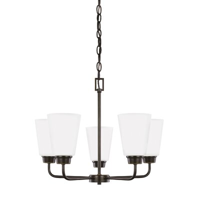 Ardaghmore 5-Light Shaded Chandelier Finish: Heirloom Bronze