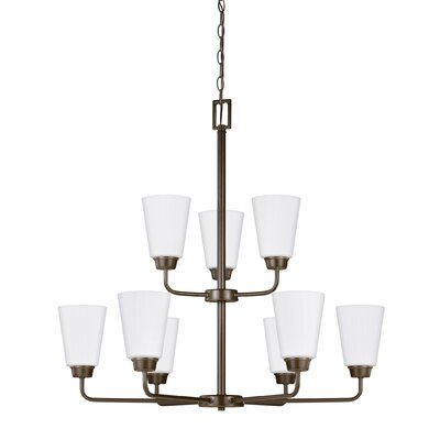 Ardaghmore 9-Light Shaded Chandelier Finish: Heirloom Bronze