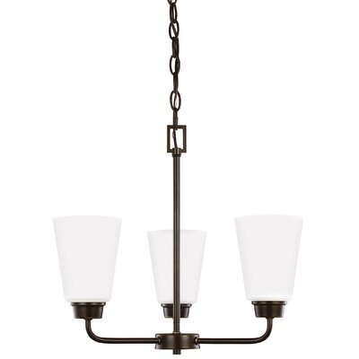 Ardaghmore 3-Light Mini Chandelier Finish: Heirloom Bronze
