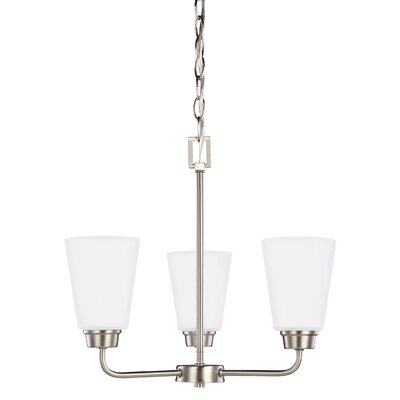 Ardaghmore 3-Light Mini Chandelier Finish: Brushed Nickel