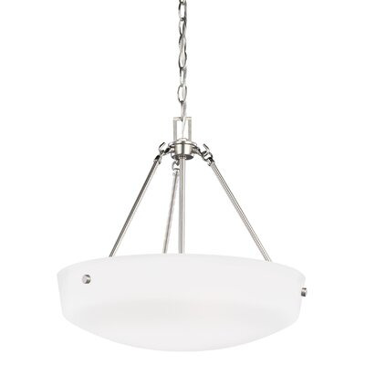 Ardaghmore 3-Light Bowl Pendant Finish: Brushed Nickel