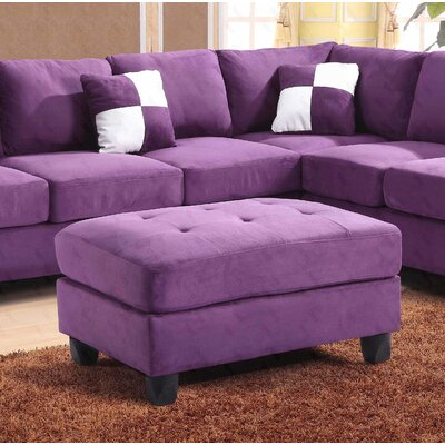 Deschutes Ottoman Upholstery Color: Suede- Purple