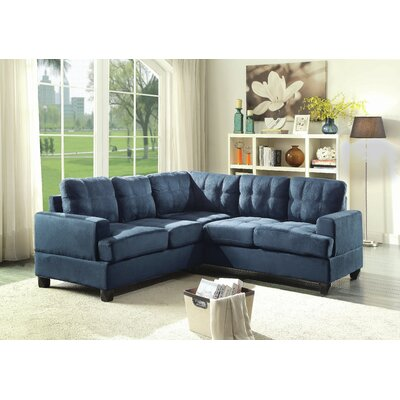 Hunts Point Sectional Upholstery: Navy Blue