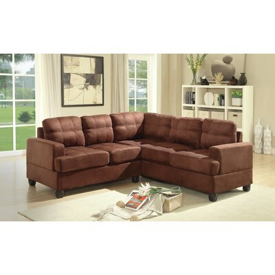 Hunts Point Sectional Upholstery: Chocolate