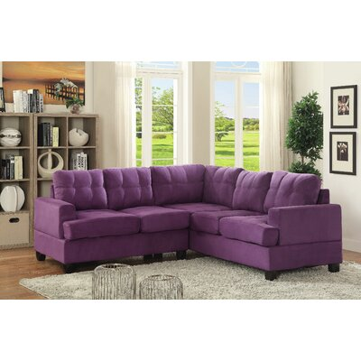 Hunts Point Sectional Upholstery: Purple
