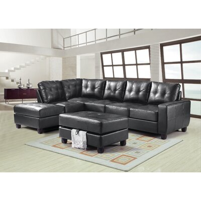 Alcott Hill Muttontown Reversible Chaise Sectional