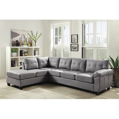 Old Westbury Reversible Chaise Sectional Upholstery: Gray