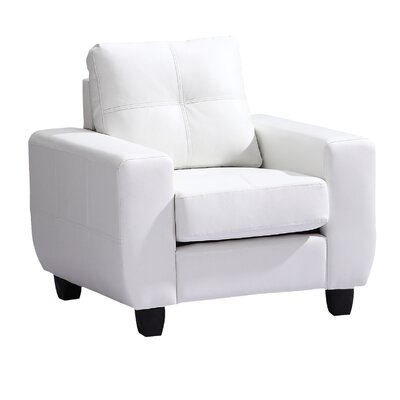 Muttontown Armchair Upholstery: White