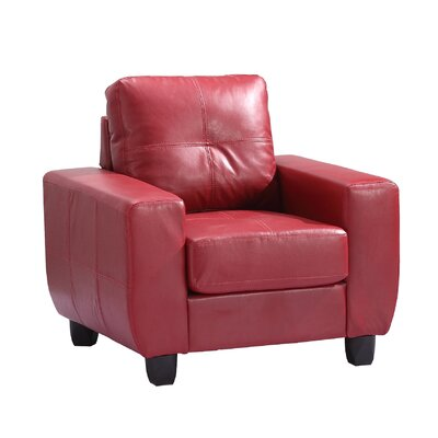 Muttontown Armchair Color: Red