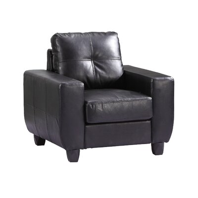 Muttontown Armchair Color: Black