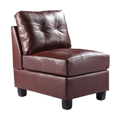 Muttontown Slipper Chair Color: Brown