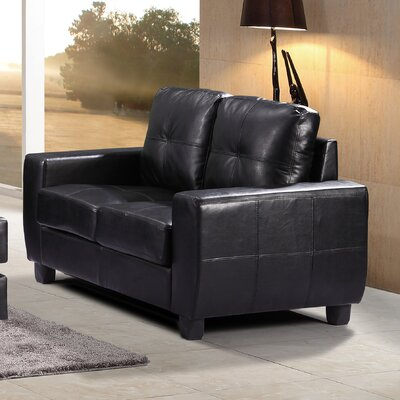 Muttontown Loveseat Upholstery: Black