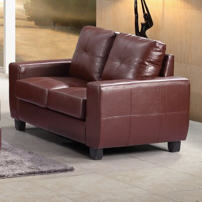 Muttontown Loveseat Upholstery: Brown