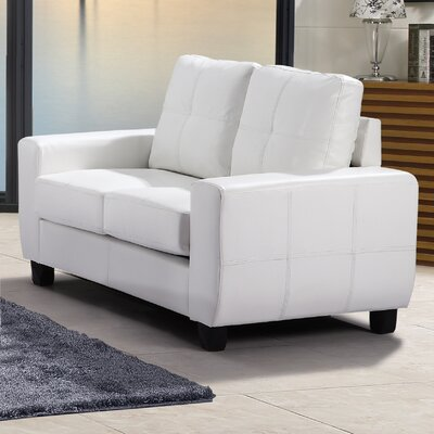 Muttontown Loveseat Upholstery: White