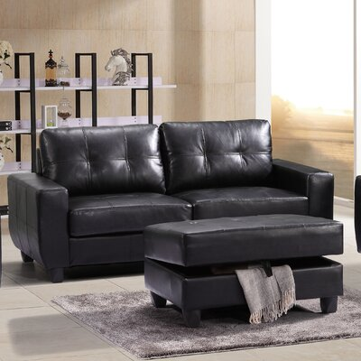 Muttontown Sofa Upholstery: Black