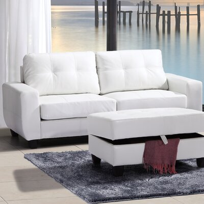 Muttontown Sofa Upholstery: White