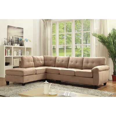 Old Westbury Reversible Chaise Sectional Upholstery: Saddle