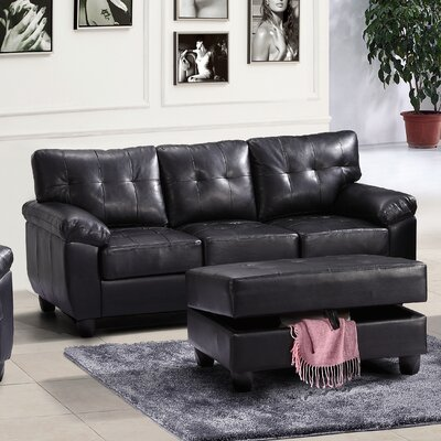 Old Westbury Sofa Upholstery: Black