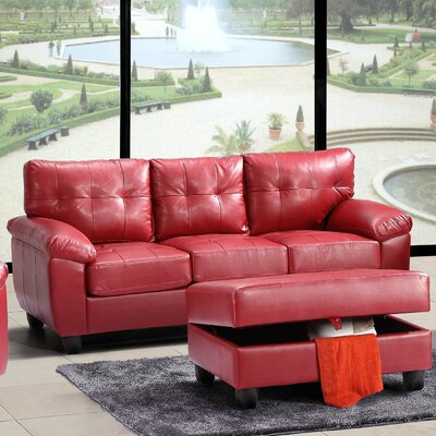Old Westbury Sofa Upholstery: Red