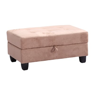 Childress Storage Ottoman Upholstery: Saddle