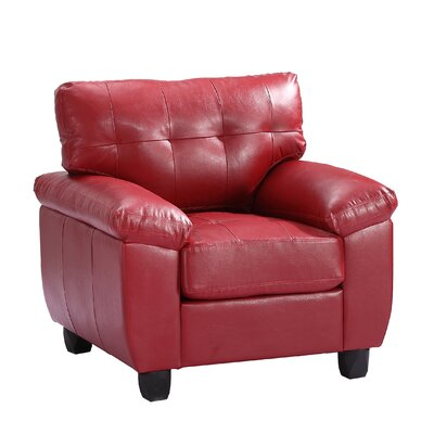 Childress Club Chair Upholstery: Red