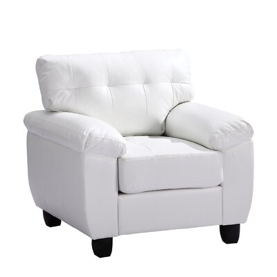 Childress Club Chair Upholstery: White
