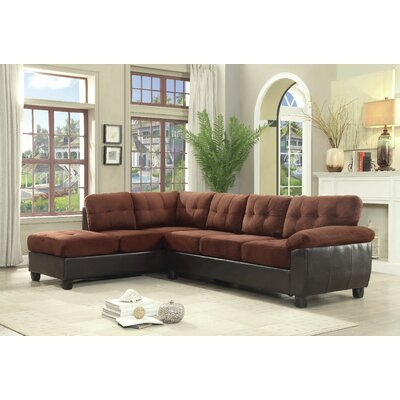 Old Westbury Reversible Sectional Upholstery: Chocolate