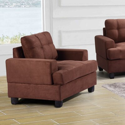 Hunts Point Arm Chair Color: Chocolate