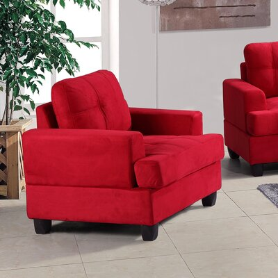 Hunts Point Arm Chair Color: Red