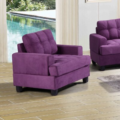 Hunts Point Arm Chair Color: Purple