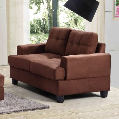 Hunts Point Loveseat Upholstery: Chocolate