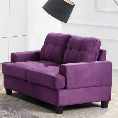 Hunts Point Loveseat Upholstery: Purple