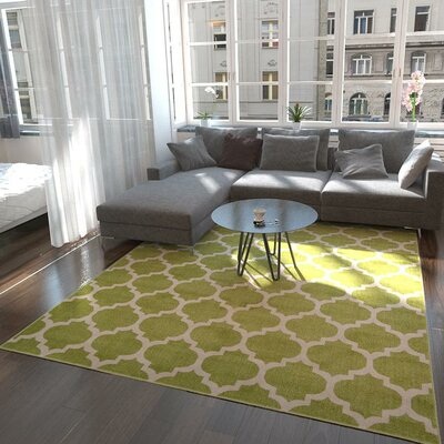 Emjay Light Green Area Rug