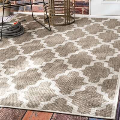 Sidell Taupe Area Rug Rug Size: Rectangle 5'3
