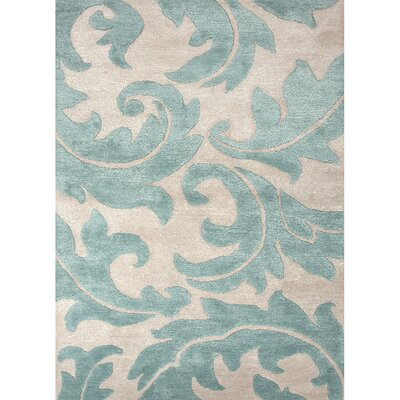 Silver Creek Ivory/Blue Abstract Area Rug Rug Size: 9 x 12