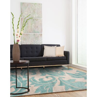 Silver Creek Ivory/Blue Abstract Area Rug Rug Size: Rectangle 9 x 12