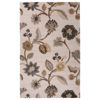 Van Wickle Hand-Tufted Ivory/Gray Area Rug Rug Size: 5 x 8