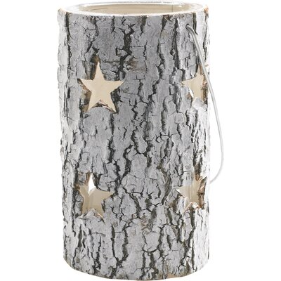 Birch Star Wood Lantern Size: 5.5 H x 9.75 W x 9.75 D