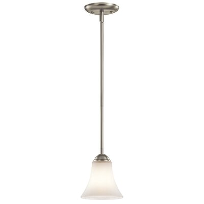 Avery 1-Light Mini Pendant Finish: Brushed Nickel