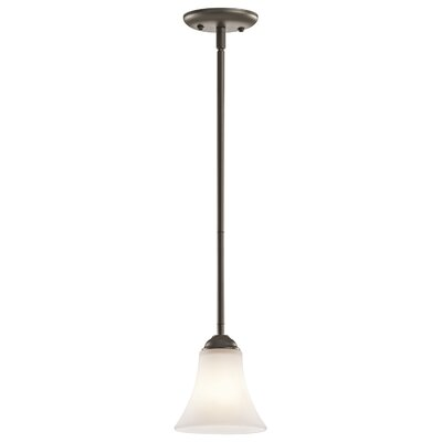 Bourne 1-Light Steel Mini Pendant Finish: Olde Bronze